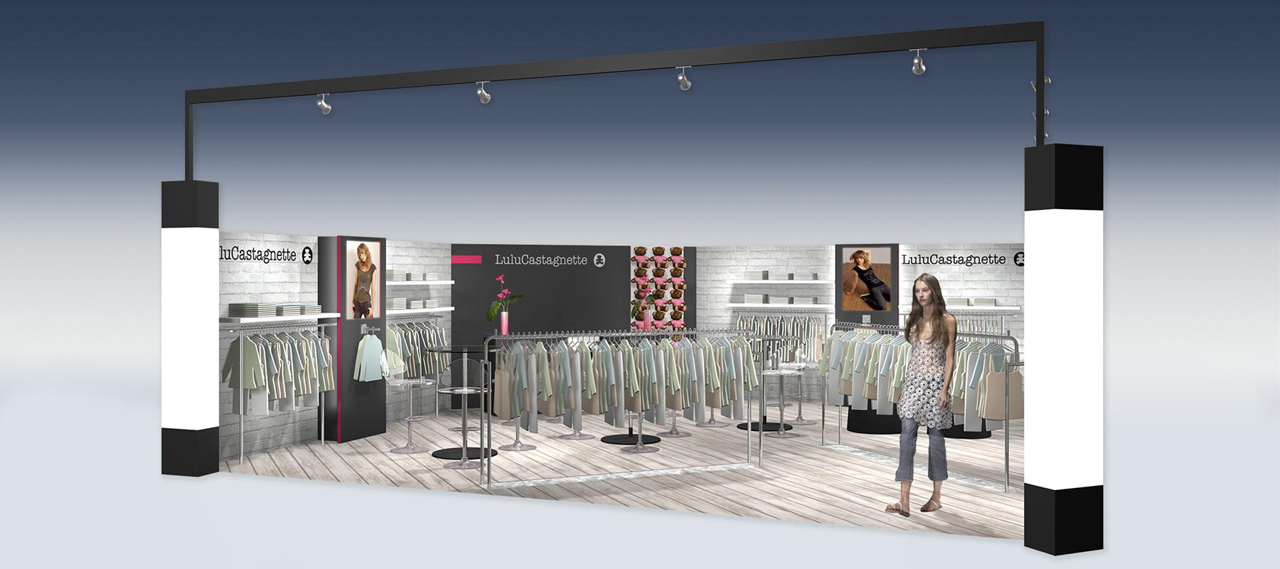 Standiste pour Lulu Castagnette : modélisation 3D