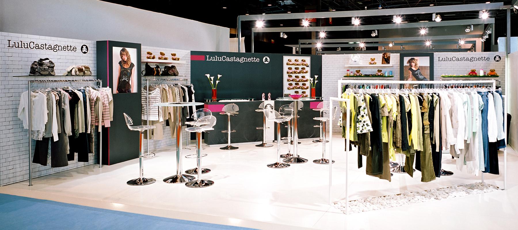 Création de stand d'exposition pour Lulu Castagnette